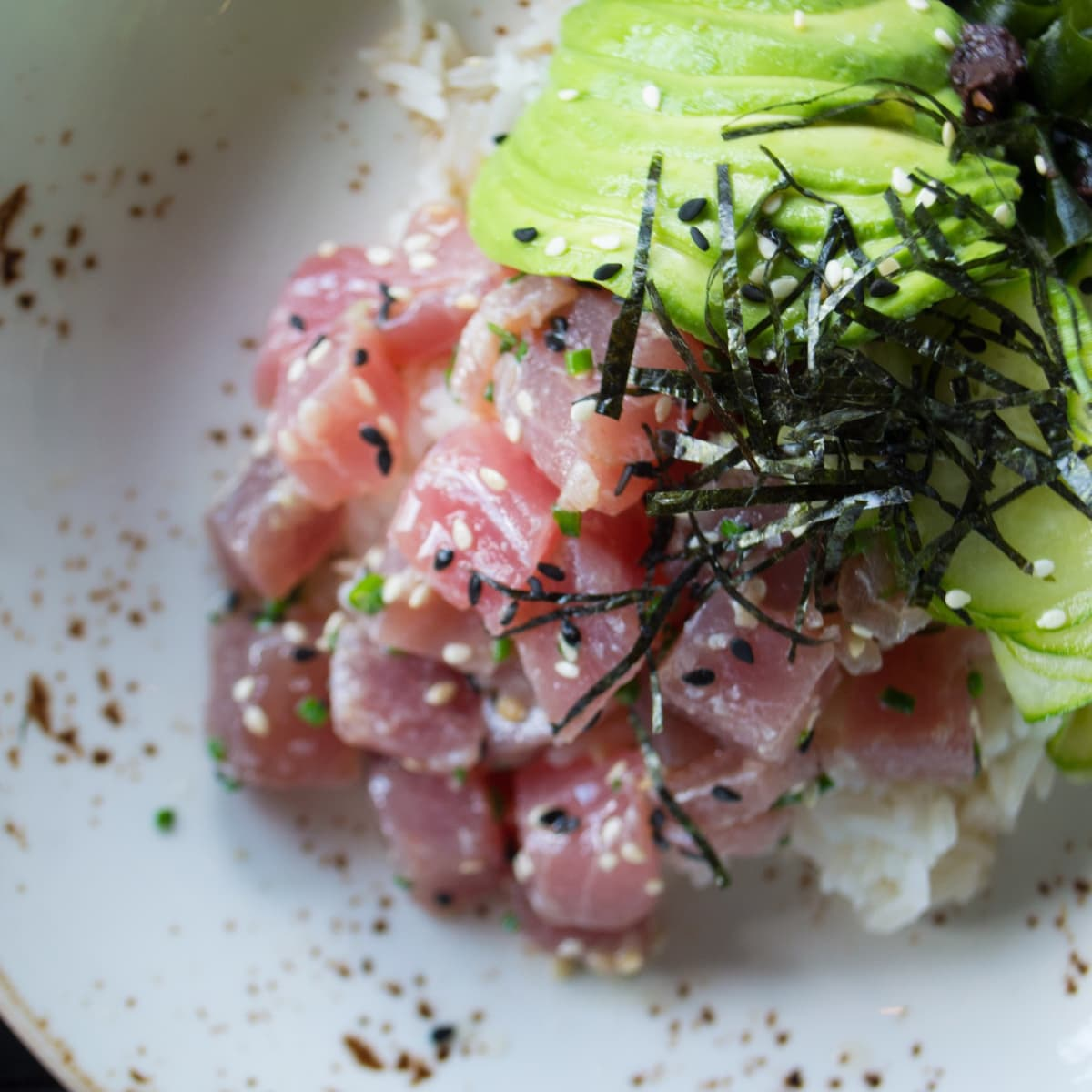 SaltAir Seafood lunch tuna poke