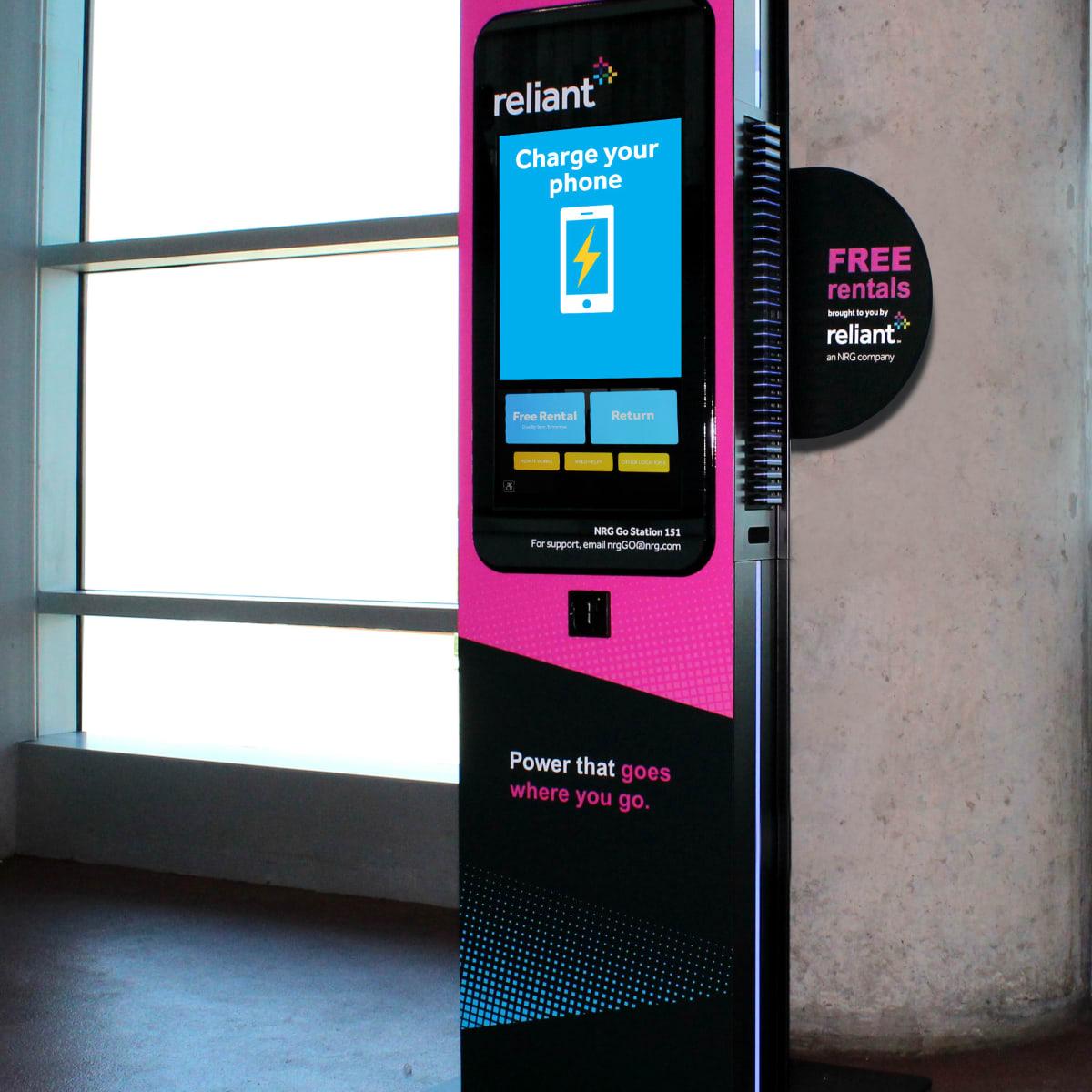Reliant charging kiosk