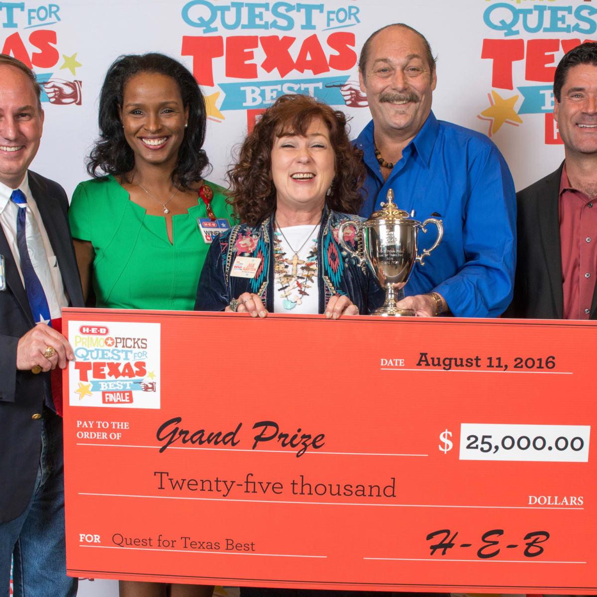 Jody Hall, Winell Herron, Julie Albertson (Texas Pie Company), Spencer Thomas-Schwarz, Reade Ahrens, Quest Texas Best