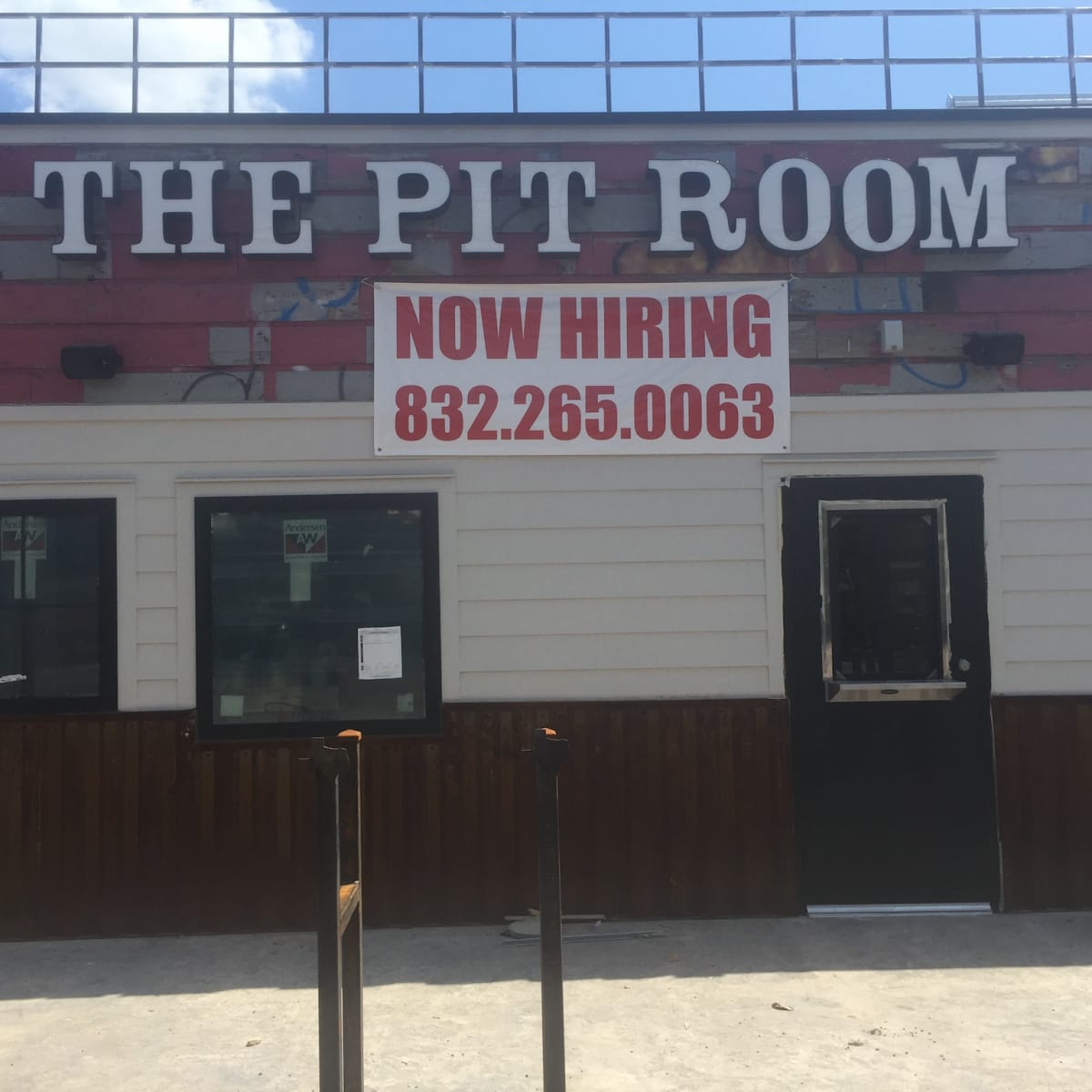 Pit Room exterior sign