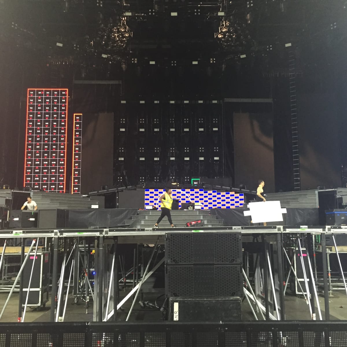 Guns N Roses stage closeup