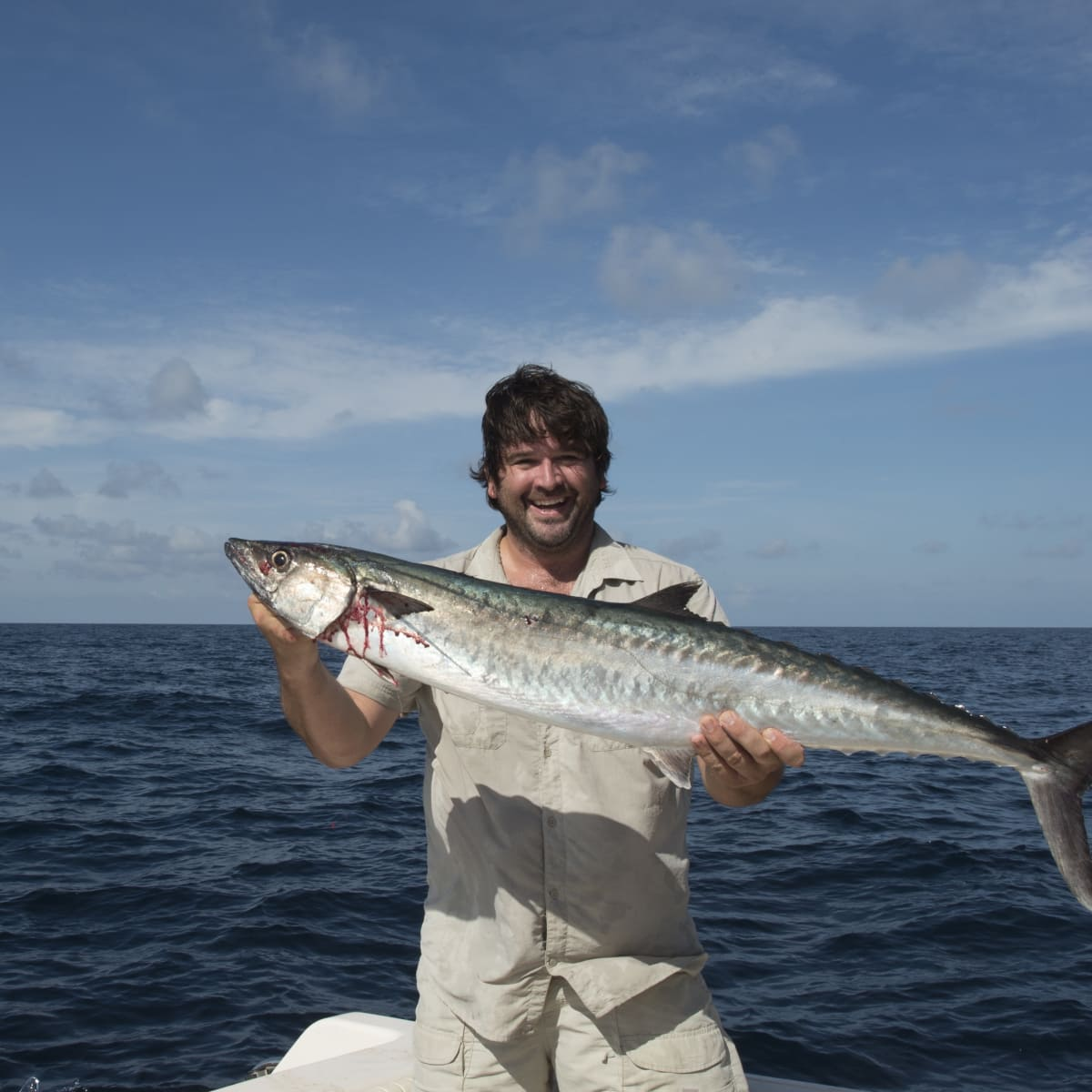 Bryan Caswell with king mackerel