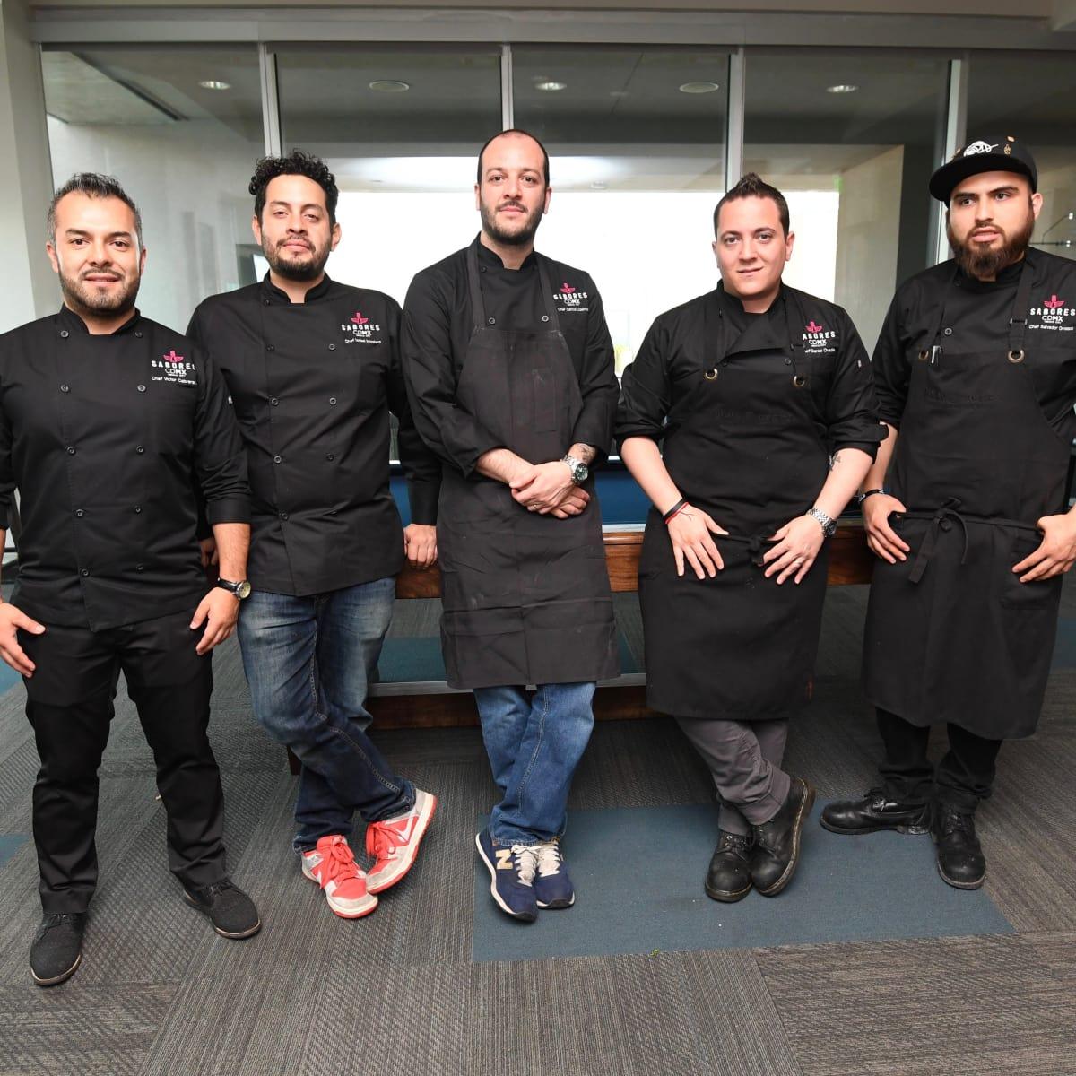 Victor Cabrera, Israel Montero, Jorge Udelman, Daniel Vadia, Salvador Orozco at Sabores chef event