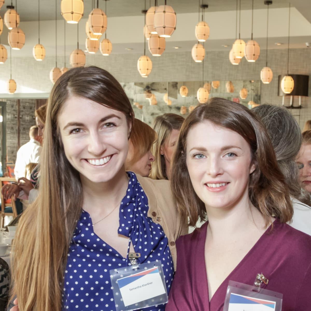 Ellevate Network breakfast 6/16 Samantha Kherker and Susan Dietz
