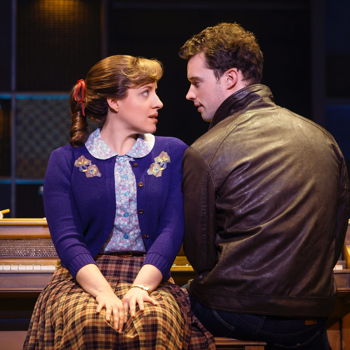 Beautiful, touring, Abbey Mueller and Liam Tobin as Carole King and Gerry Goffin