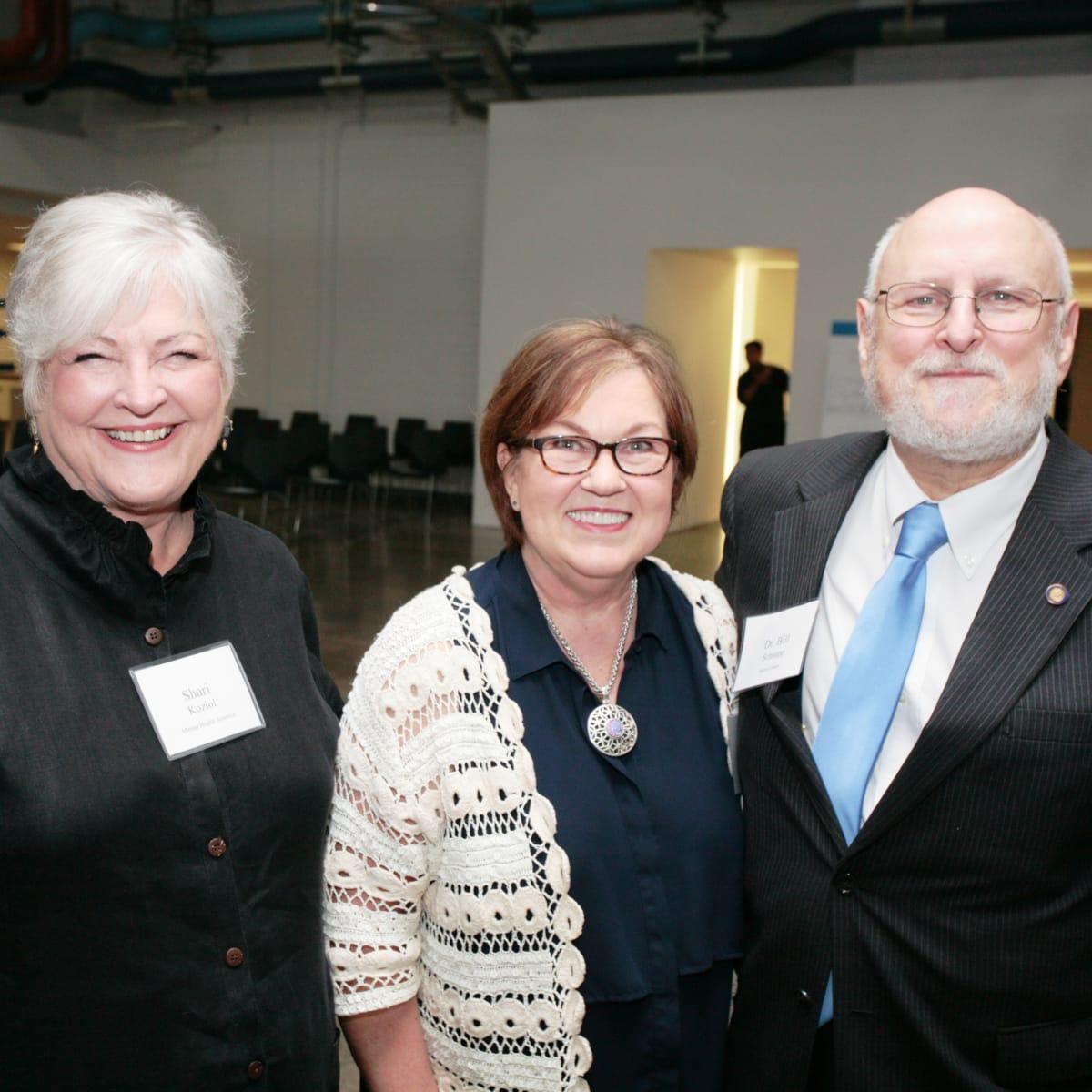 Menninger Bridge Up Shari Koziol, Susan Fordice, Bill Schnapp