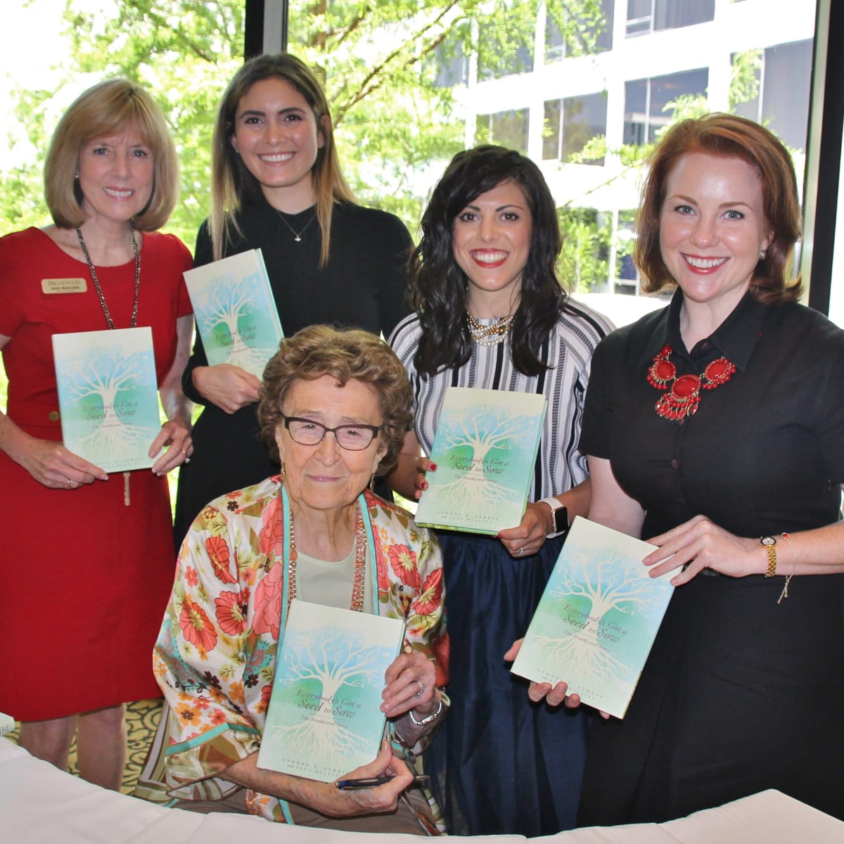 Brookwood founder and author Yvonne Streit with co-author Jana Mullins, Yara Suki, Grace Moceri, Amy Vandaveer