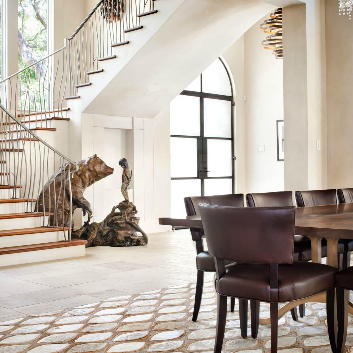 Austin house home 101 Pascal Lane Weslake Rob Roy neighborhood stairs