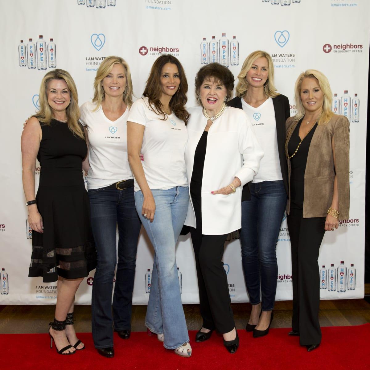 Houston, I Am Waters 5th Annual Supermodel Luncheon, May 2016, Millette Sherman, Kelly Emberg Kara Young, Warner Roberts, Niki Taylor, Jill Faucetta