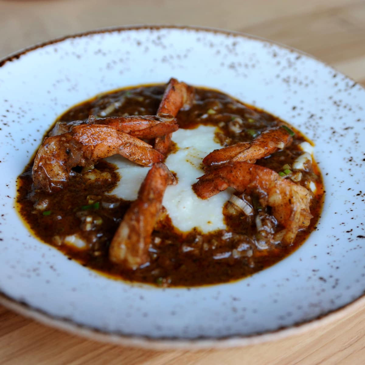 State Fare shrimp and grits