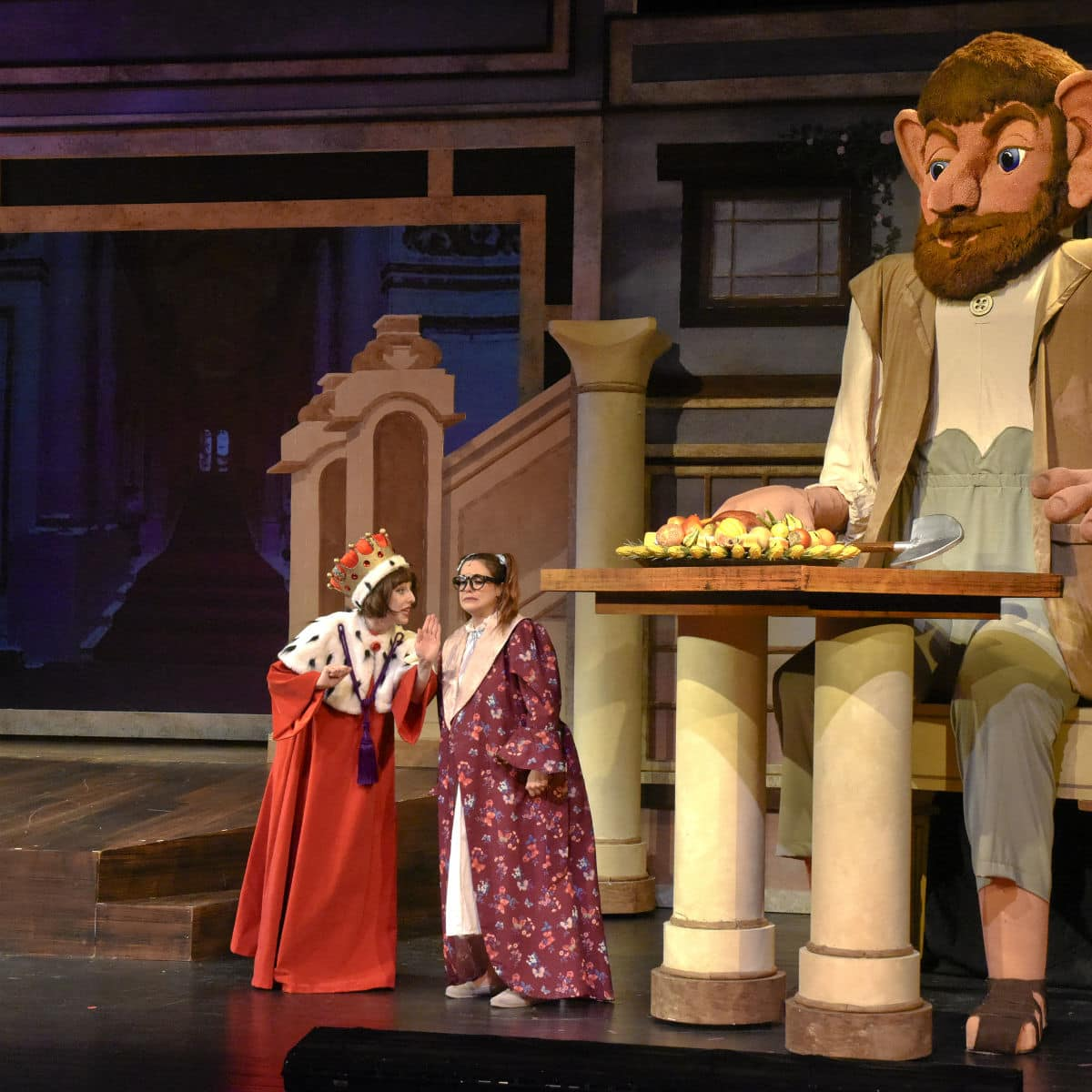 Brigette Marquardt and Faye Austin in Dallas Children's Theater's The BFG​