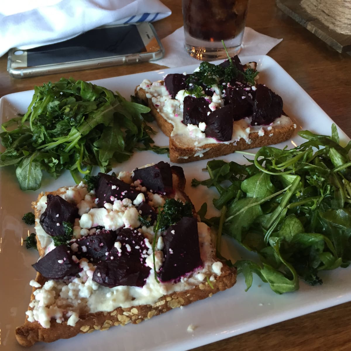 Restless Palate beet toast