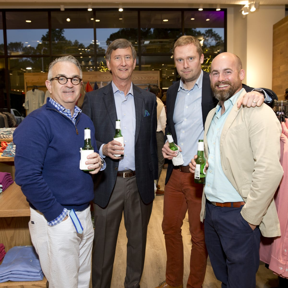 Houston, Saint Bernard opening party, April 2016, Jim Farrell, Richard Callicutt, Ryan Meyer, Chris Cummings