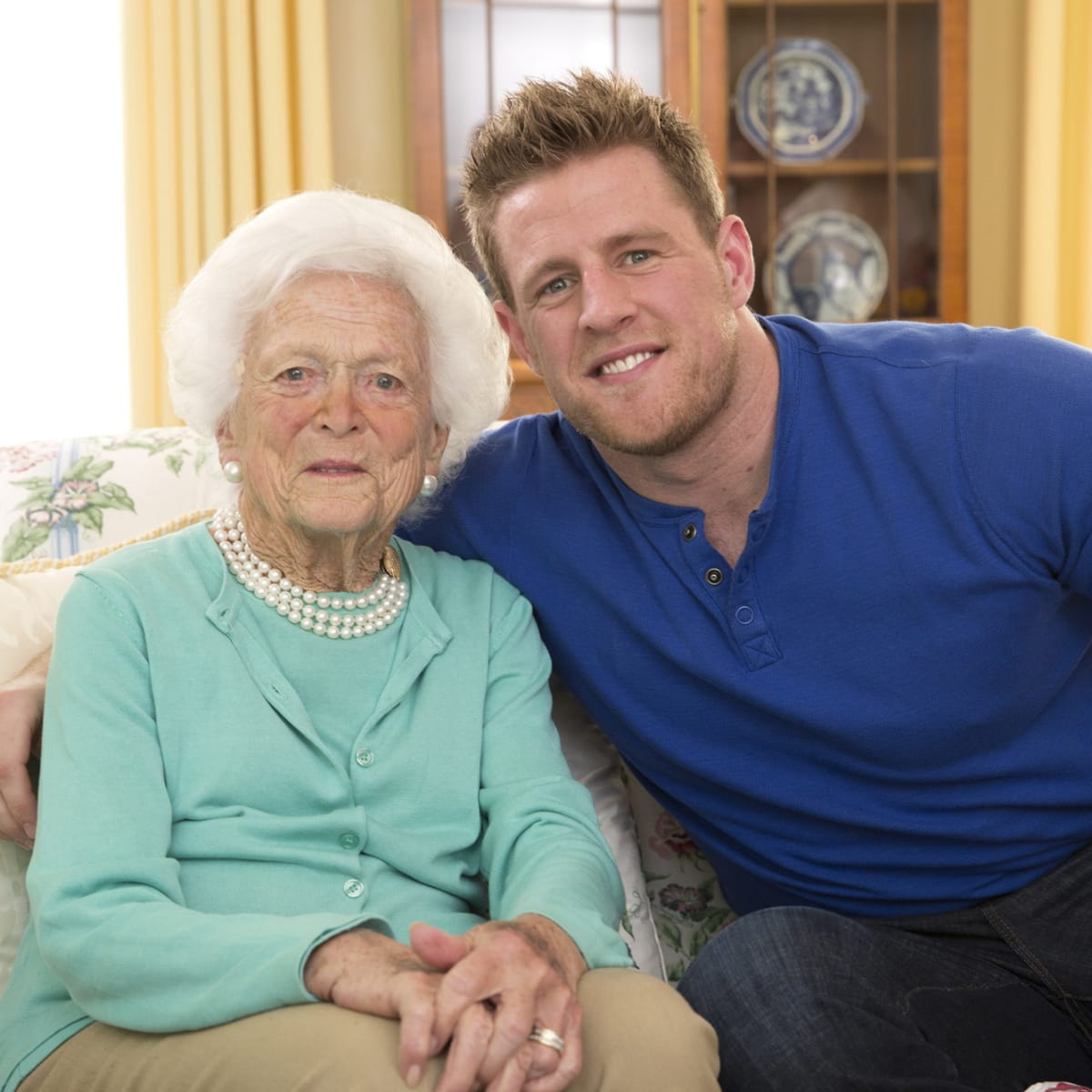 Barbara Bush, J.J. Watt 4/2016