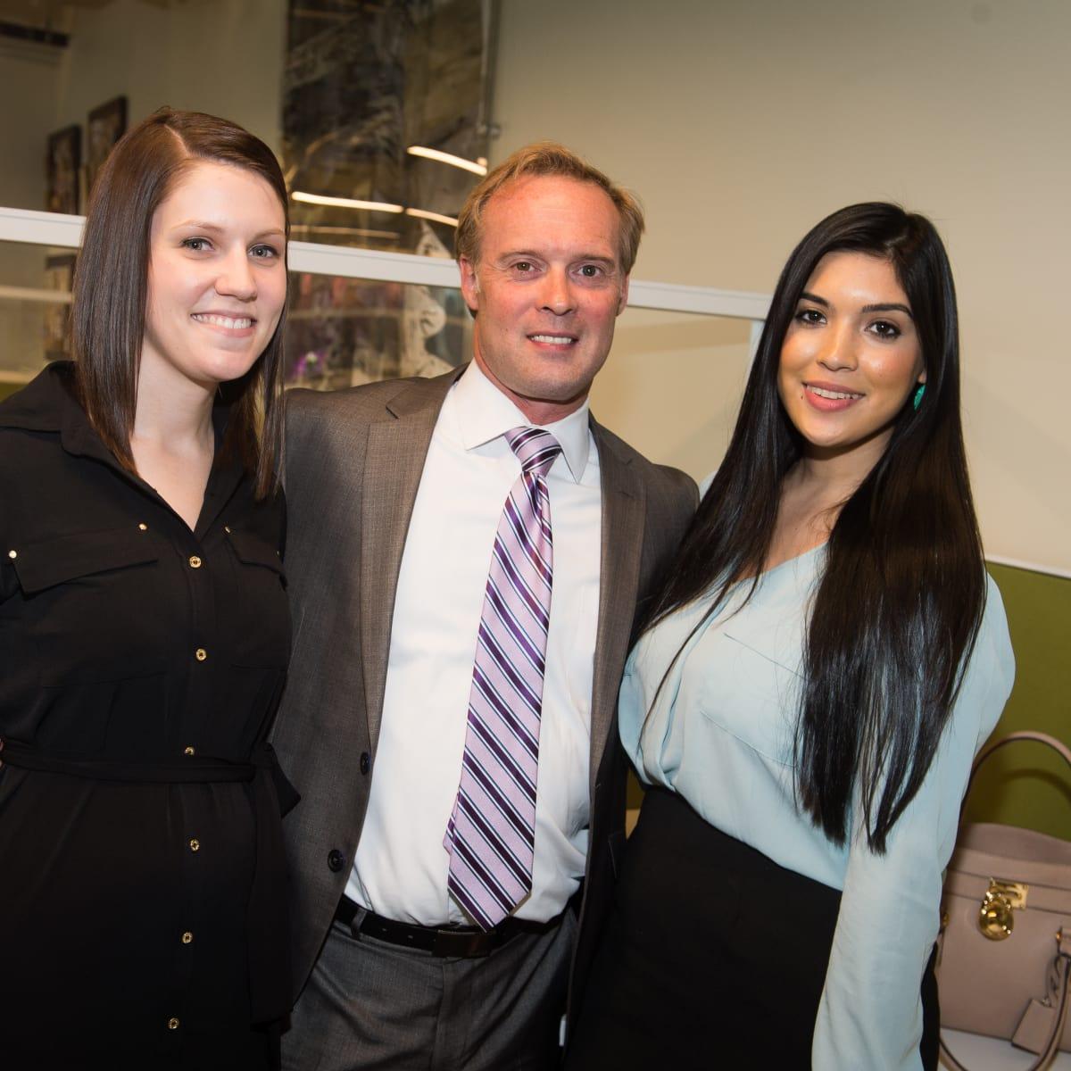Carnan Properties Opening, April 2016, Erica Reifel, REggie Gray, Alexia Cisneros