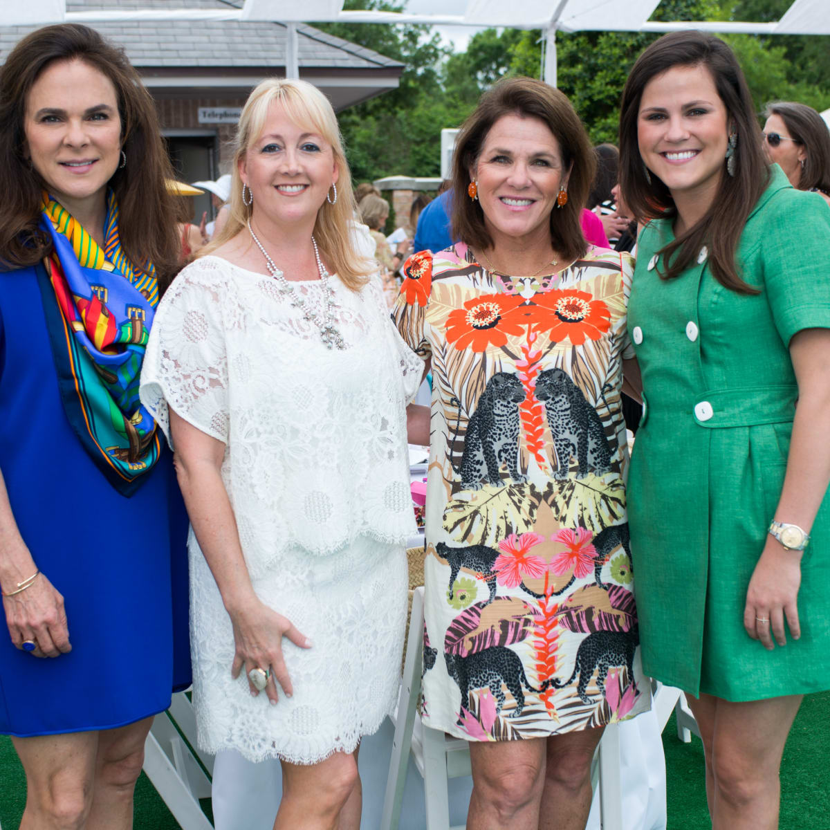 River Oaks Tennis Luncheon, April 2016, Mary Ann Detmering, Courtnay Elias, Bonnie Chumbley, Lila Chumbley