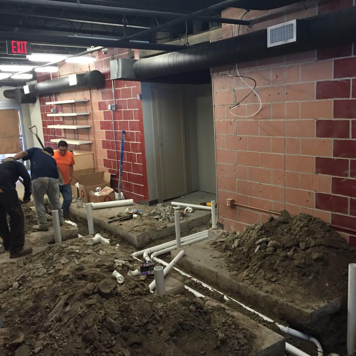 Harold's Tap Room construction