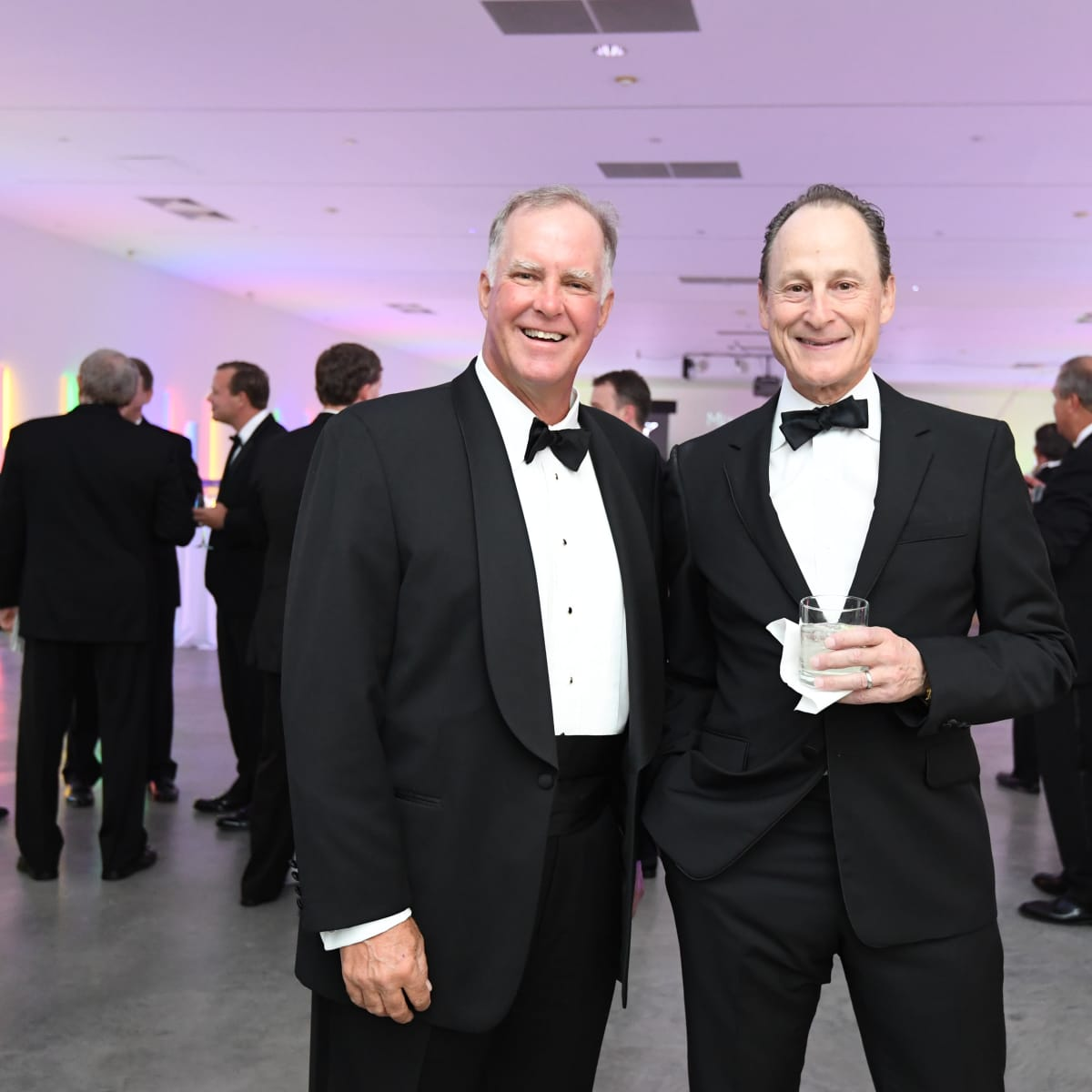 Jeff Hepper, Michael Gamson at Men of Menil dinner