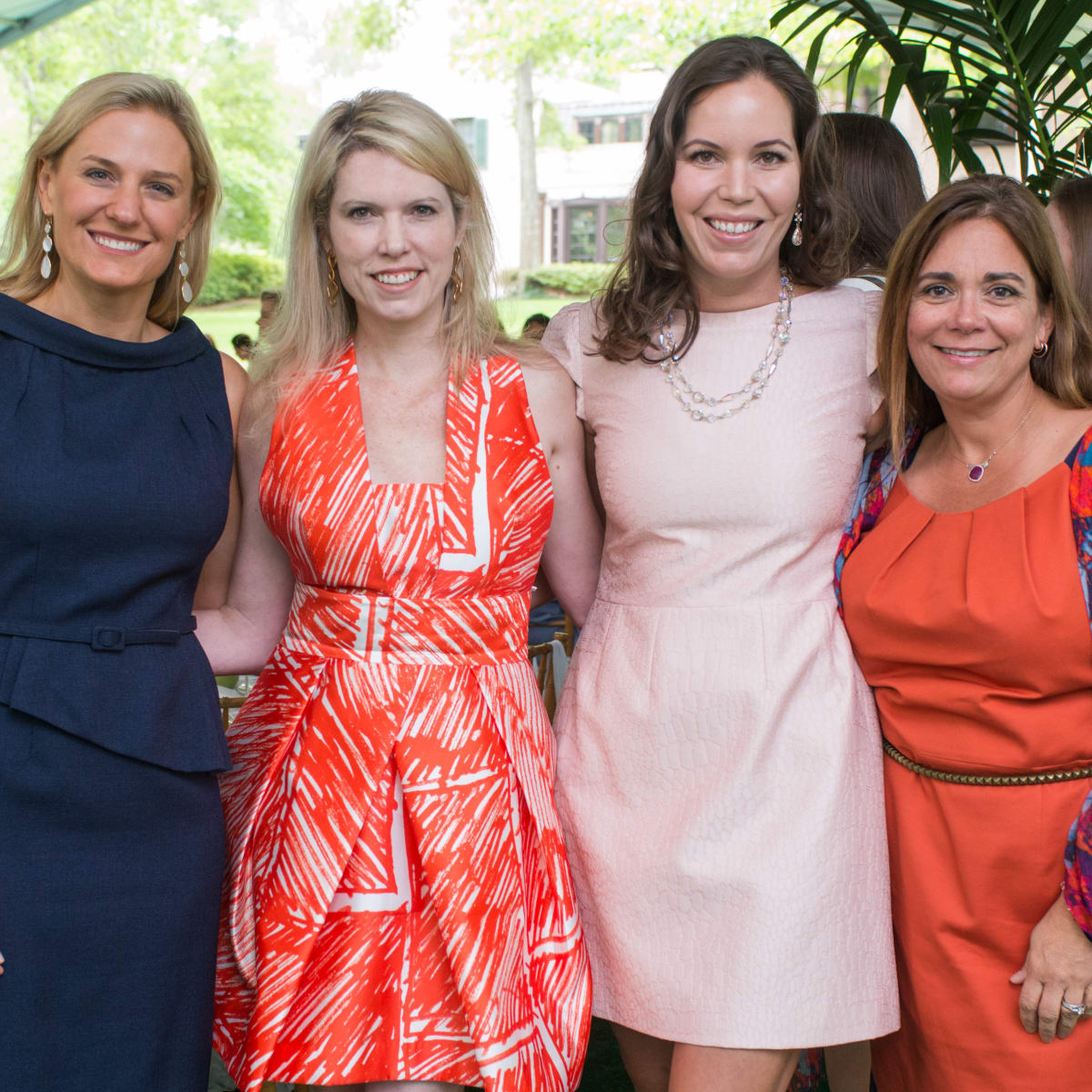Bayou Bend luncheon, April 2016, christie McCartney, Courtney toomey, Emily Adams, Carmen Mach