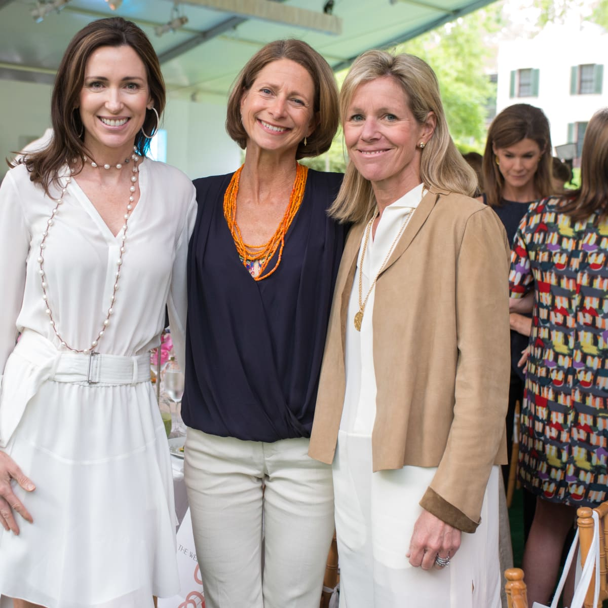 Bayou Bend luncheon, April 2016, Karen Blue, Hillary Gardy, Boo Kennedy