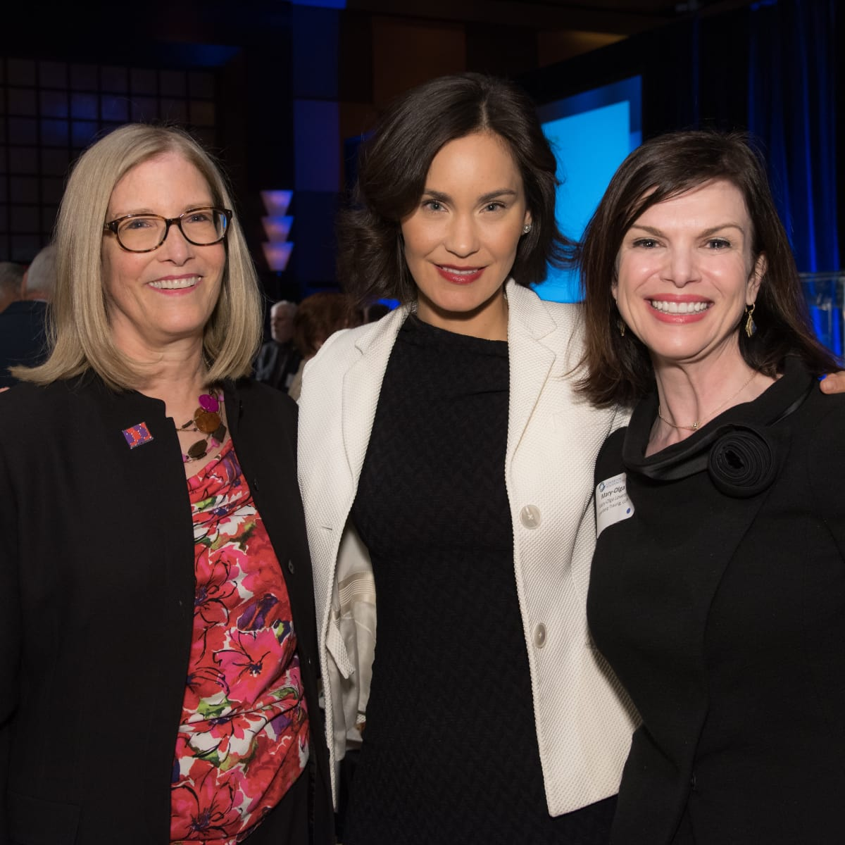 Center for Houston's Future luncheon,  March 2016, Carole Nelson, Laura Arnold, Mary Olga Lovett