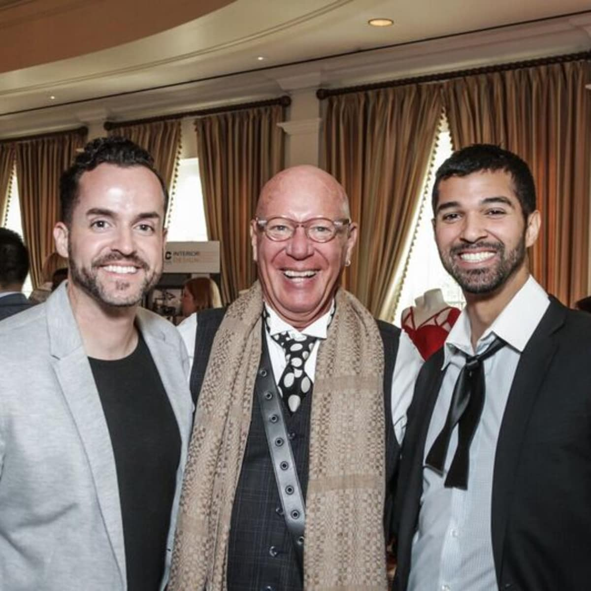 Fritz Macdonald, Kelly Amen, Angel Rios at Passion for Fashion luncheon