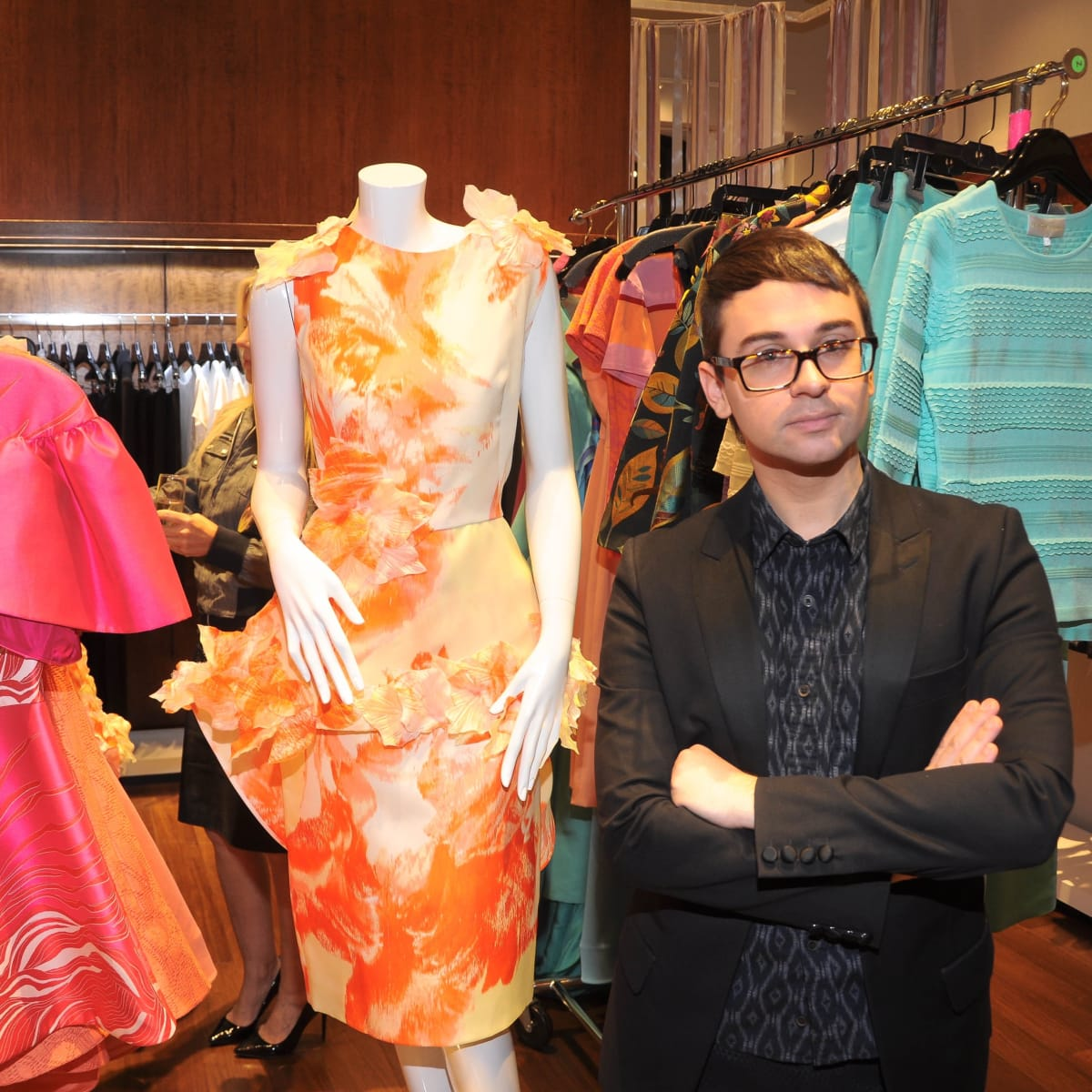 Christian Siriano at Elizabeth Anthony