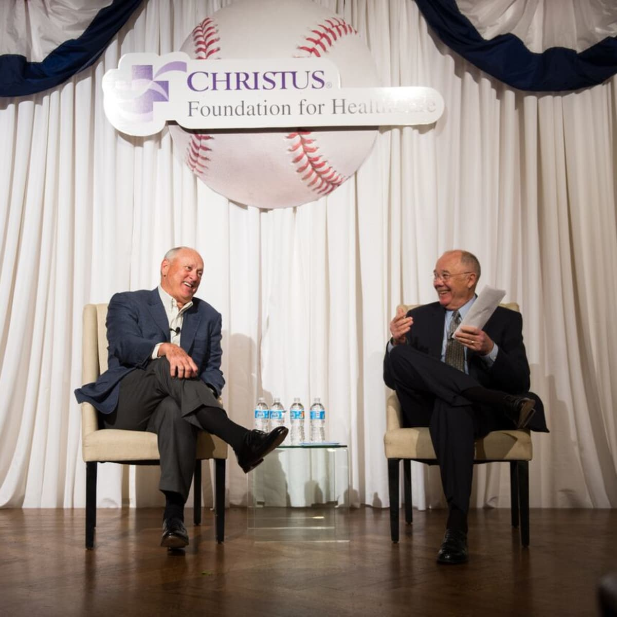 Christus Foundation Luncheon, March 2016, Nolan Ryan, Steve Smith