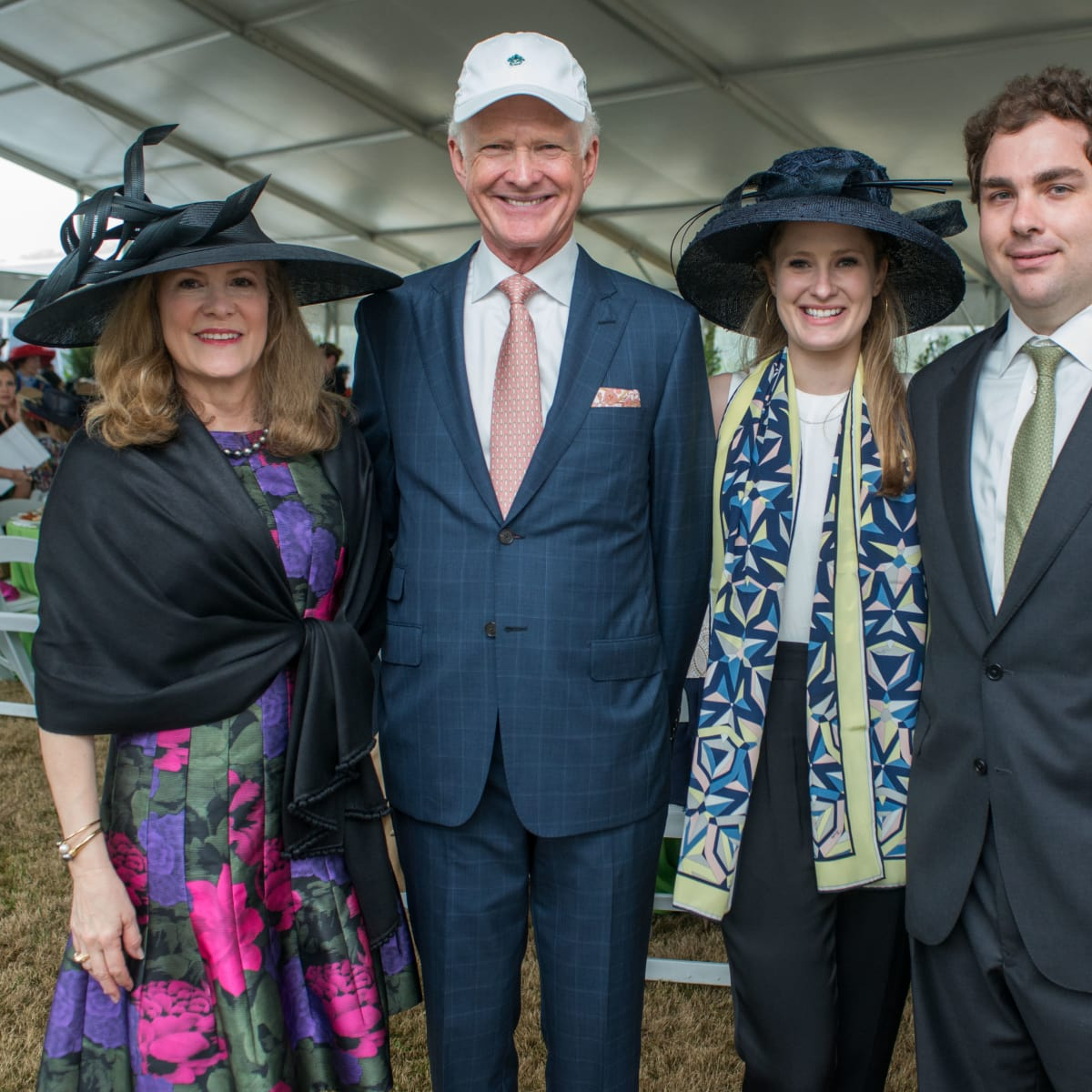 Hats in the Park, March 2016, Linda Hunsaker, Barry Hunsaker, Kelly Leonard, David Leonard