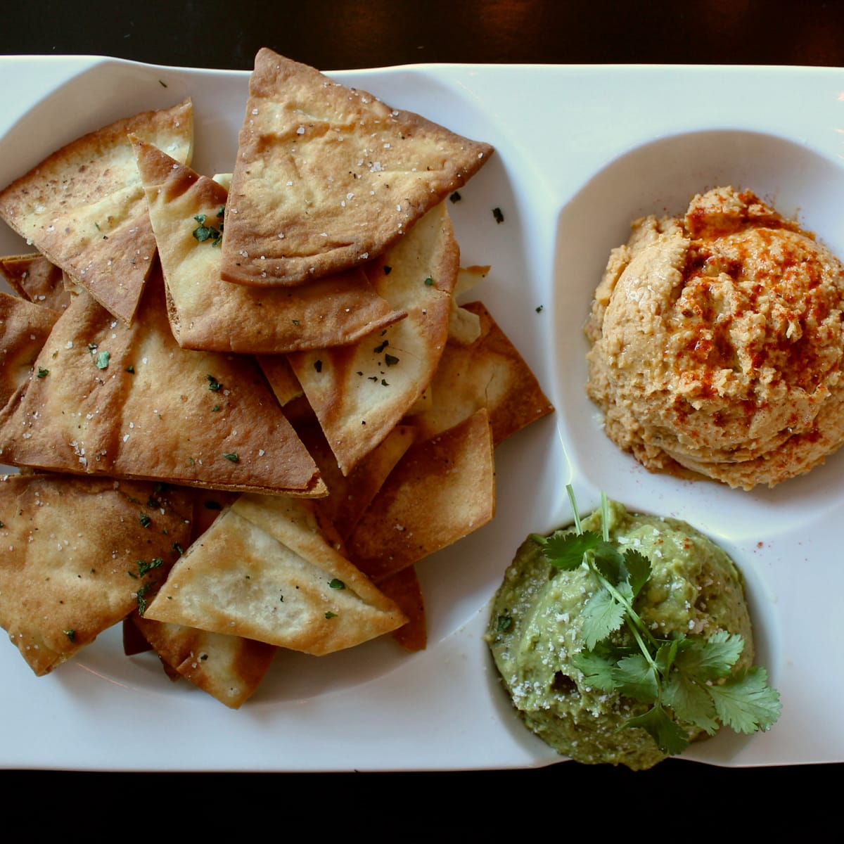 St Genevieve Austin bar Rock Rose March 2016 hummus guacamole