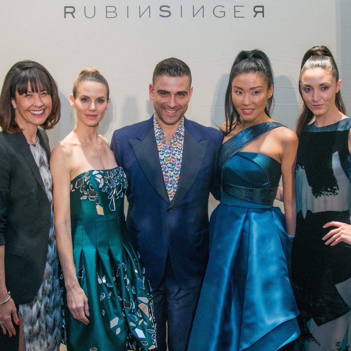 Carrie Colbert, Rubin Singer, and models at Dress for Dinner