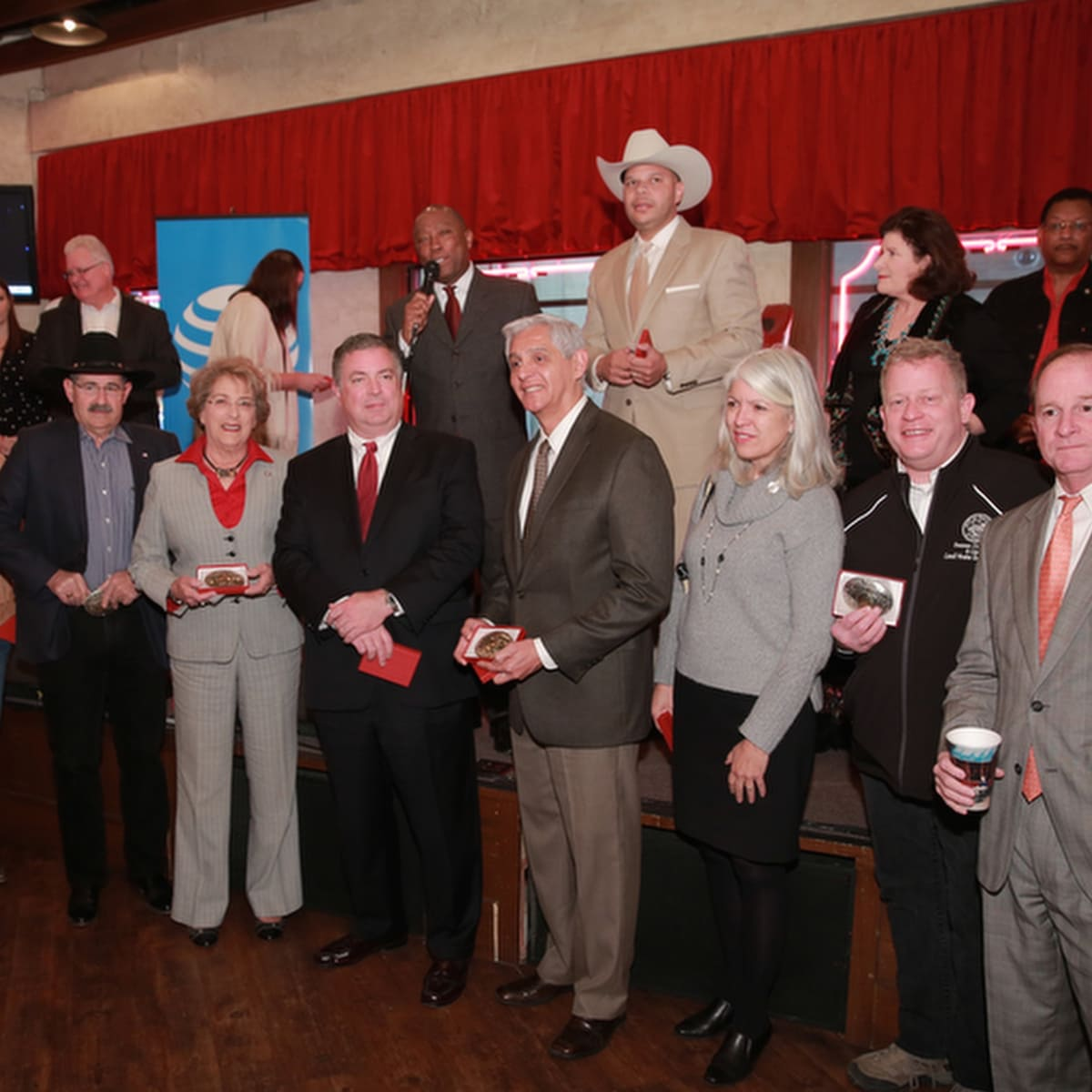 Houston City Council on front row at Mayor's Rodeo Kickoff Breakfast