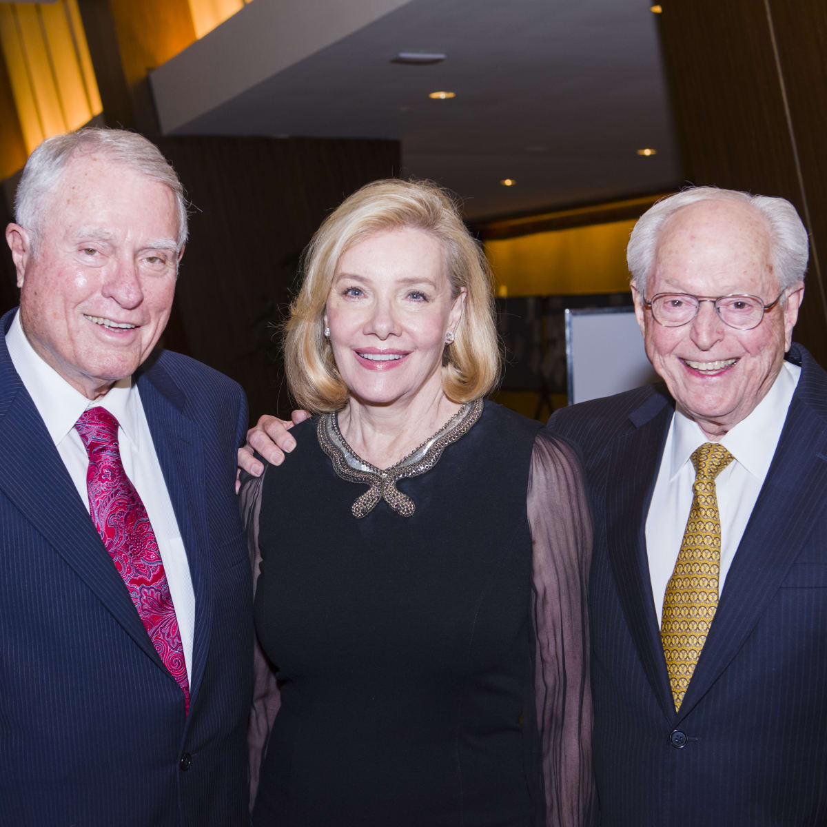 Texas Heart Institute dinner, Feb. 2016, Jim Daniel, Brenda Duncan, John Duncan