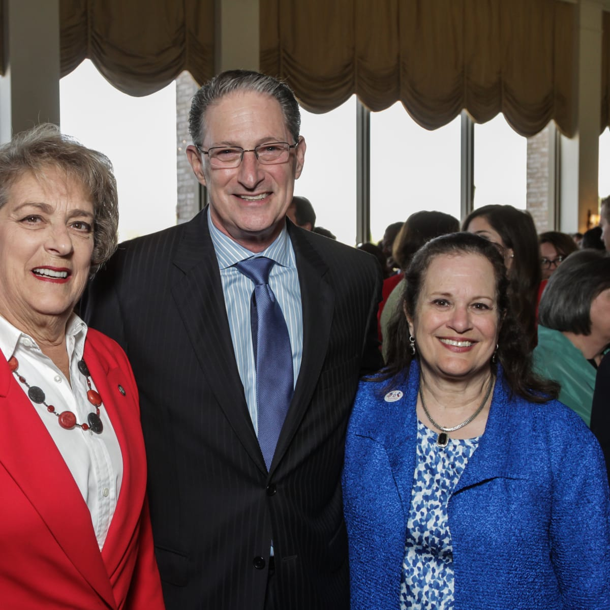 HSPVA luncheon, Feb. 2016, Ellen Cohen, Jeff Bricker, Laurie Bricker