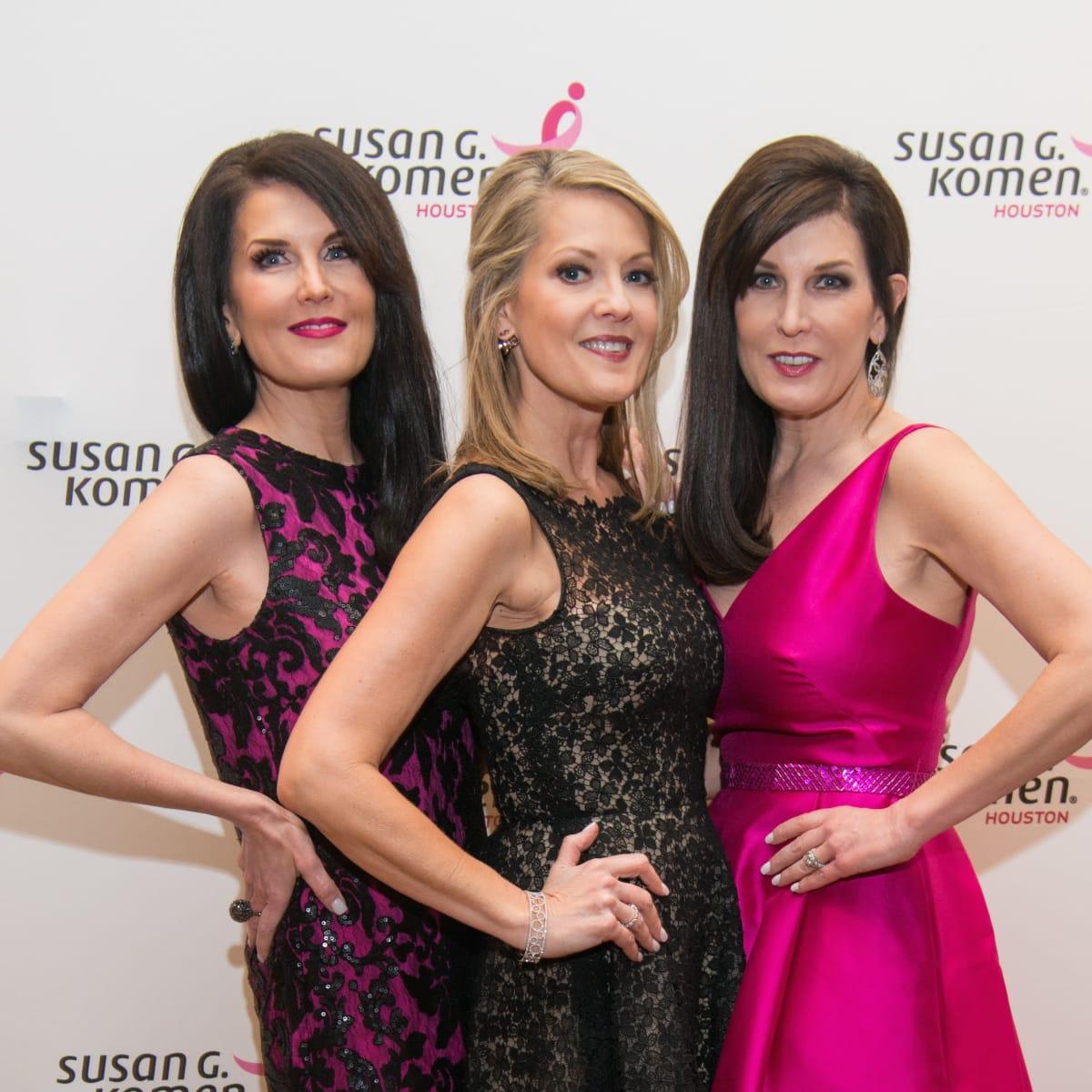 Komen Foundation Gala, Feb. 2016, Sandra Torres, Molly Bobrow, Brenda Pattillo
