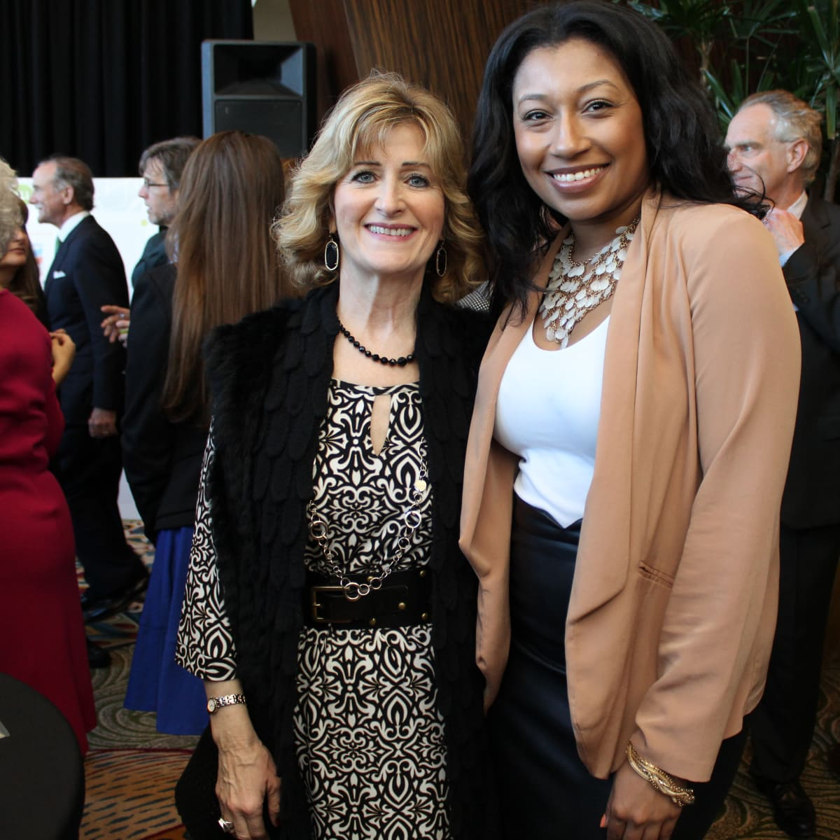 Neighborhood Centers luncheon, Feb. 2016, Nancy Nunnery, Tanisha Ramey