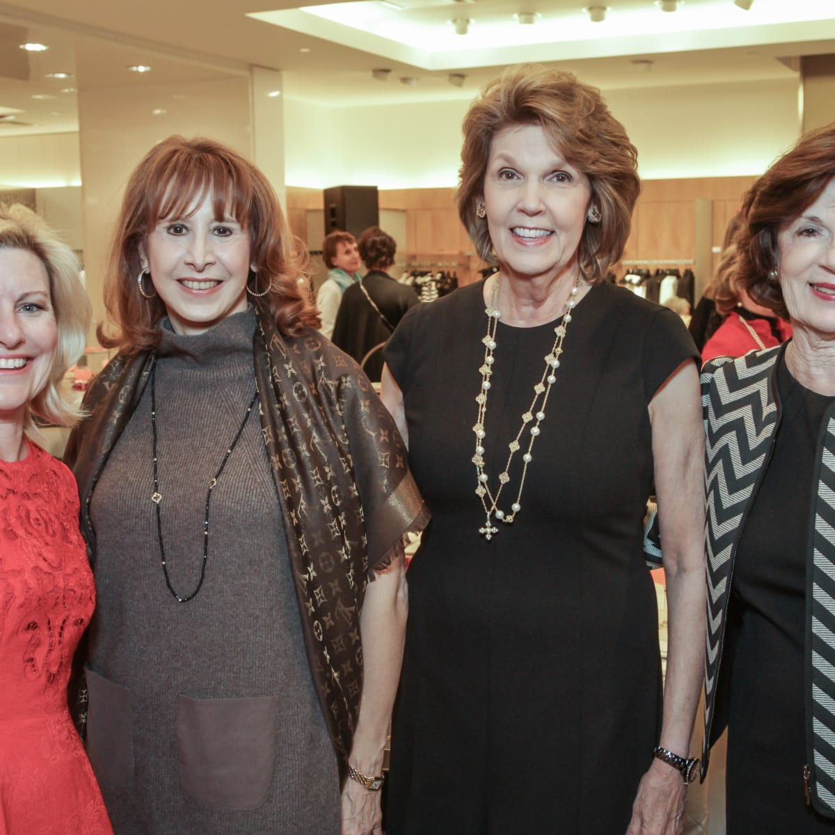 March of Dimes Tea, Feb. 2016 Maureen Higdon, Vicki West, Lilly Andress, Mary Lynn Marks