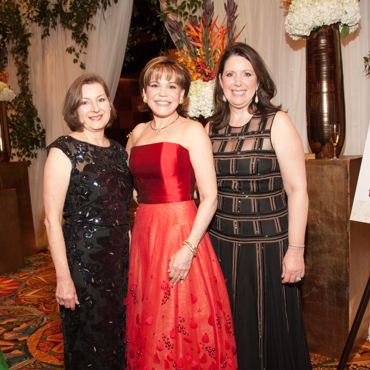 Heart Ball, Feb. 2016,  Marilynn Adame, Hallie Vanderhider, Julie Roberts