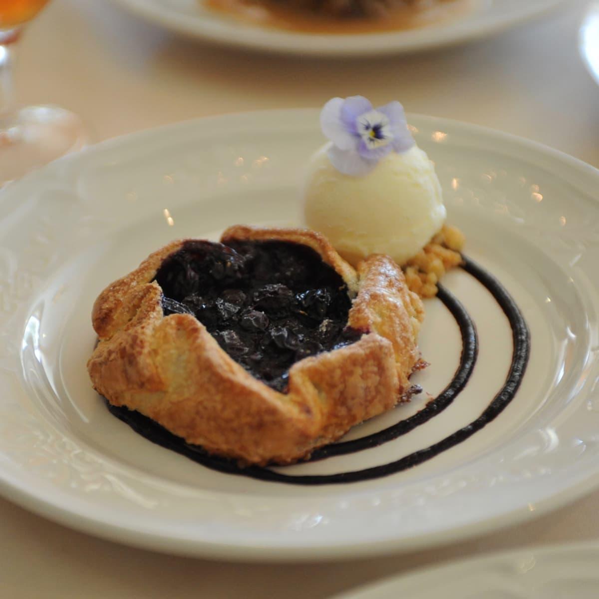 Manor House blueberry tart