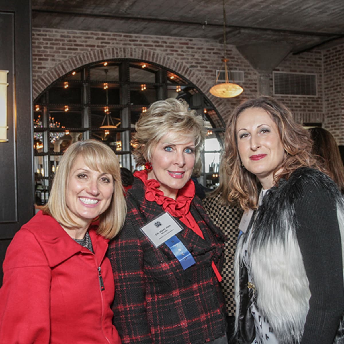 Greater Houston Women's Chamber of Commerce luncheon, Feb. 2016, Susan Dray, Mary Ann Wilkins, Ariana Smetana