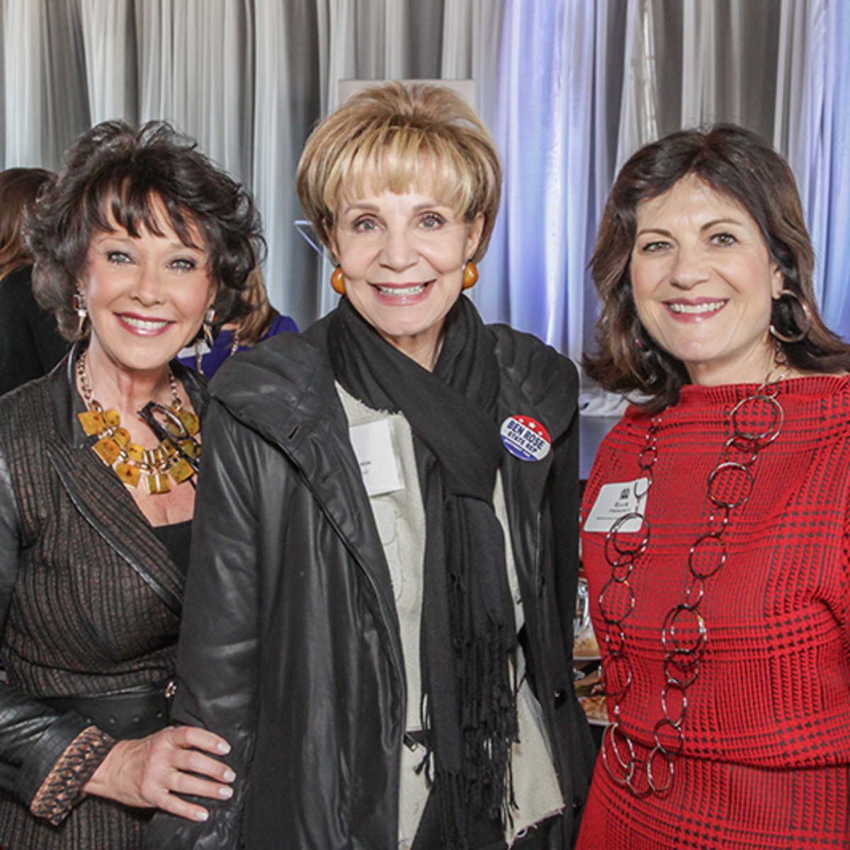 Greater Houston Women's Chamber of Commerce luncheon, Feb. 2016, Janet Flippin, Leisa Holland-nelson, Ellie Francisco
