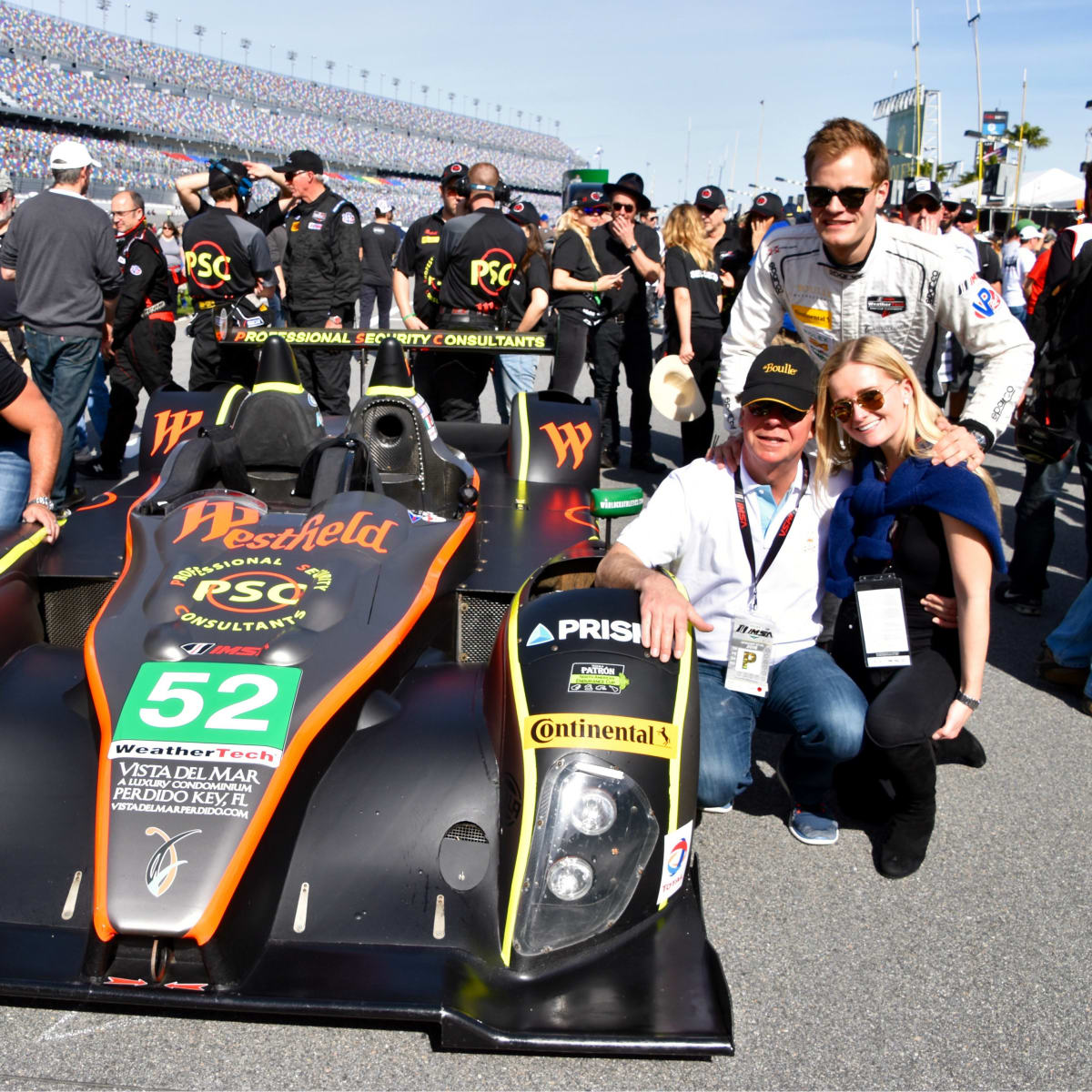 Nick Boulle and family at Rolex 24 at Dayton