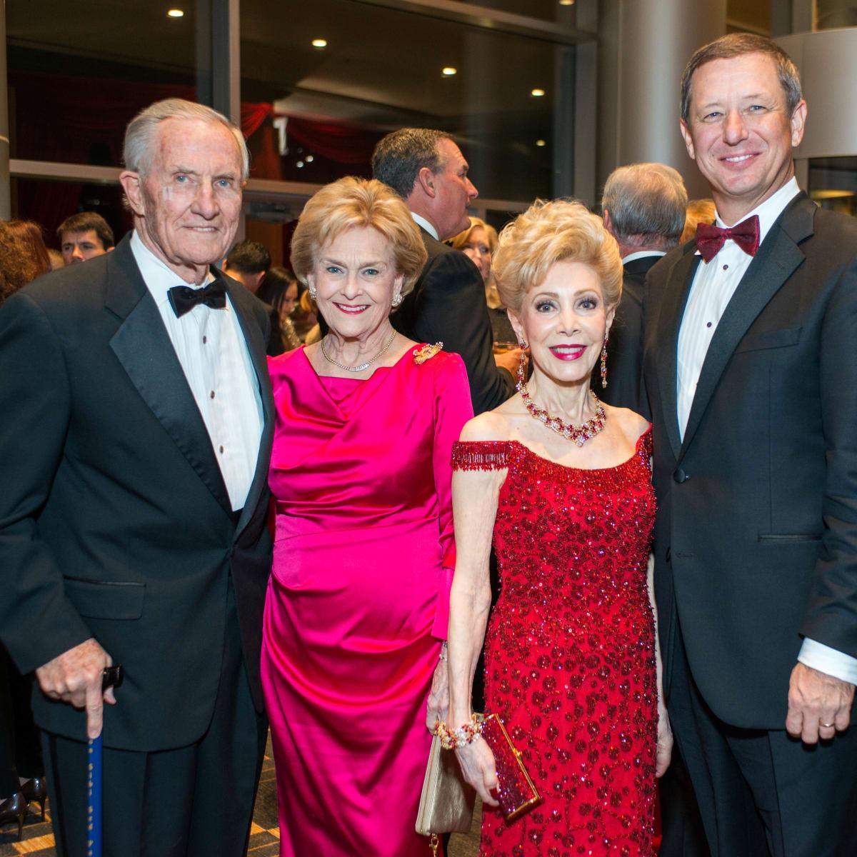 Red Cross Ball, Feb. 2016, George Strake, Annette Strake, Margaret Alkek Williams, David Wuthrich