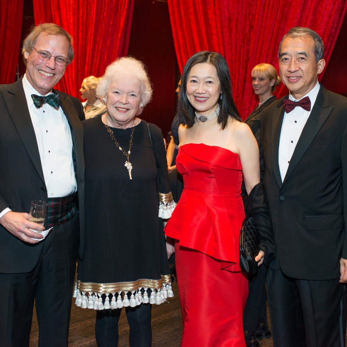 Red Cross Ball, Feb. 2016, Stephen Klineberg, Peggy Klineberg, Anne Chao, Albert Chao