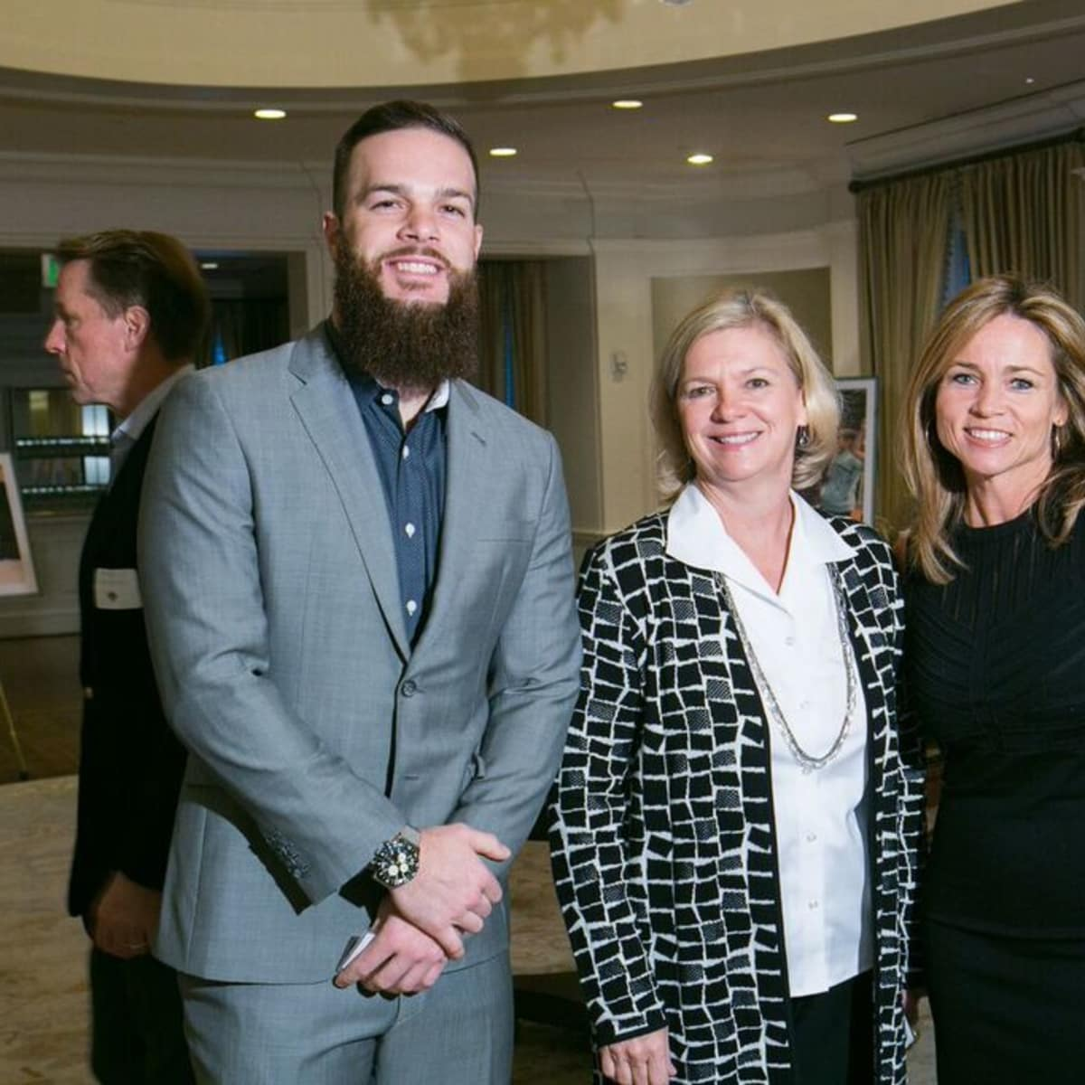 SpringSpirit Baseball breakfast, Feb. 2016, Dallas Keuchel, Brenday Bartley, Aimee Snoots