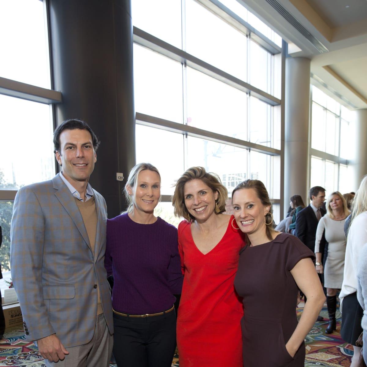 Bo's Place Luncheon, Feb. 2016, Kent Chenevert, Debbie Chenevert, Winifred Riser, Allison Stasney