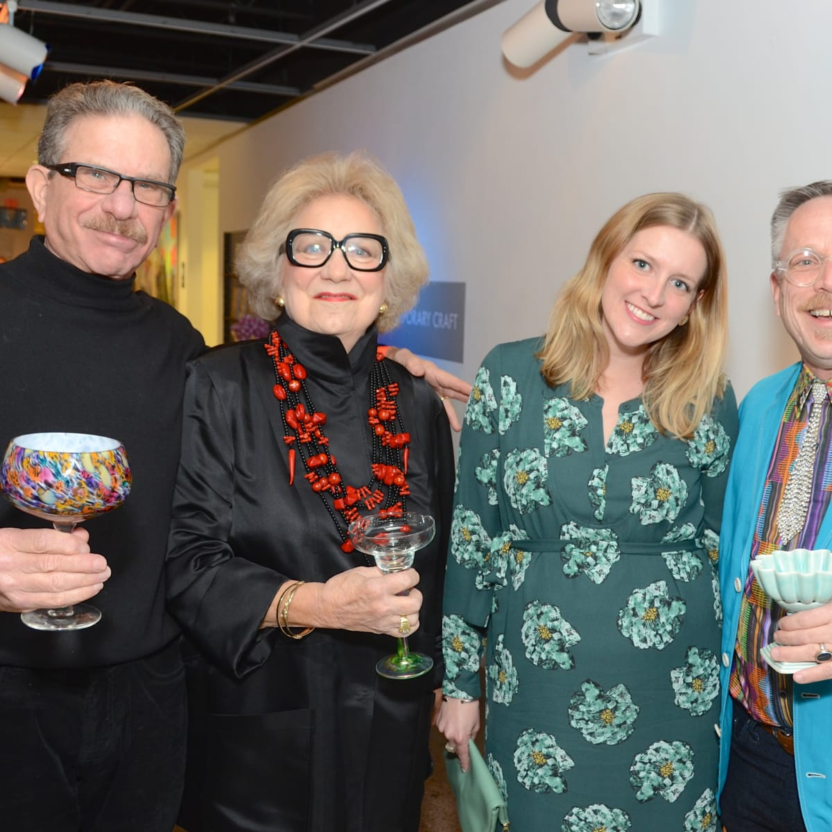 Center for Contemporary Craft, Margarita Madness, Jan. 2016, Marshal Lightman, Phyllis Childress, Rosemary Price, Edward Lane McCartney