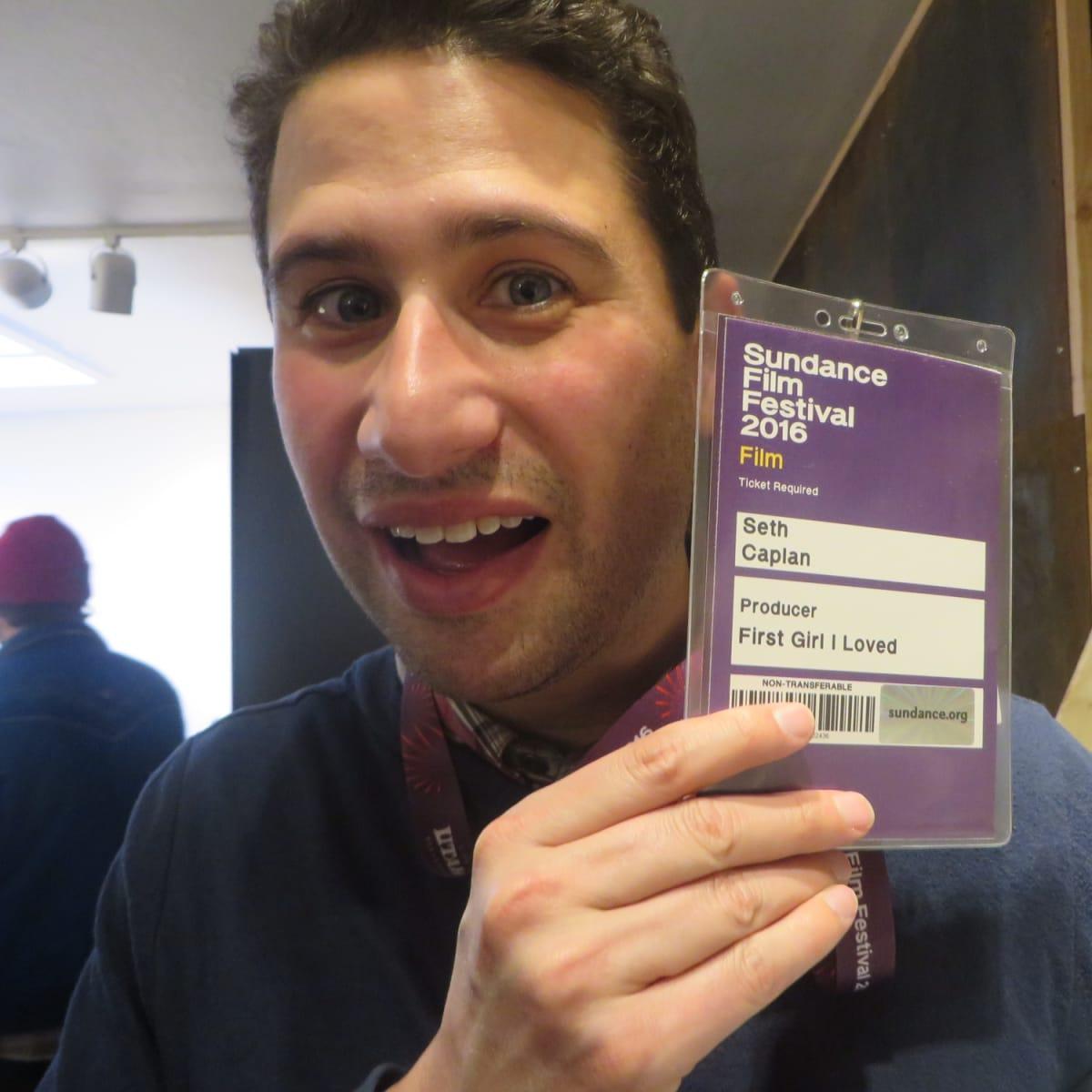 Seth Caplan at Film Texas reception at Sundance Film Festival