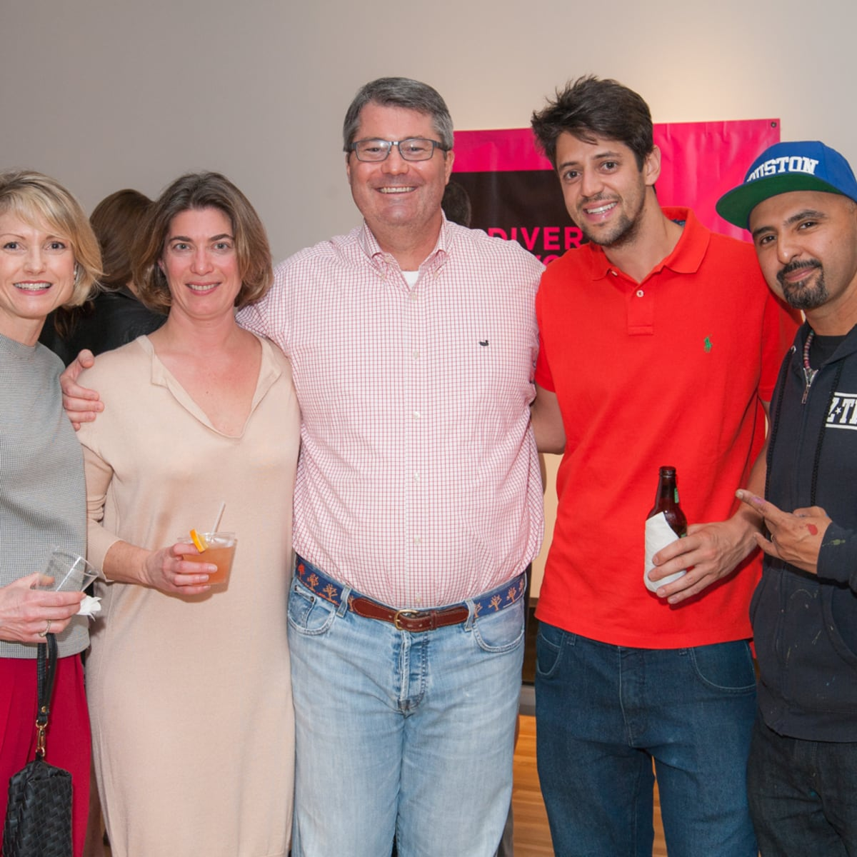 News, DiverseWorks MATCH party, Dec. 2015 Bridget Wade, Claudia Schmuckli, Patrick Wade, Fplo, Gonzo247