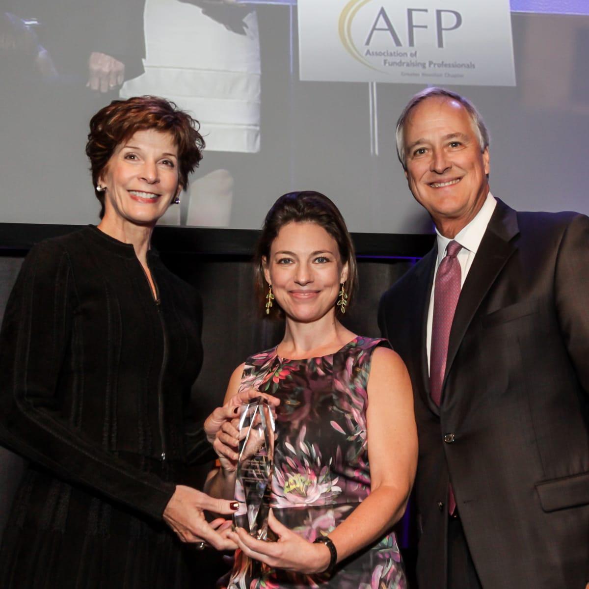 News, National Philanthropy Day Awards, Dec. 2015, Mary Williams, Cullen Geiselman, Will Williams
